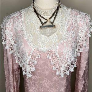 VINTAGE JESSICA MCCLINTOCK PINK COTTAGECORE DRESS